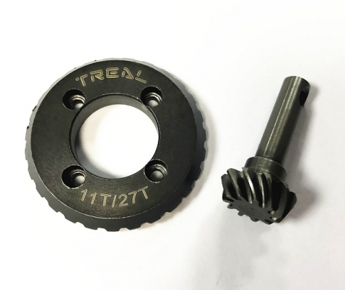 Treal HD Steel Gear Set Overdrive Differential Gear Helical for Redcat Gen 8