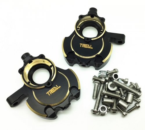 Treal Brass Inner Front Portal Housing Knuckles Heavy Weight for Redcat GEN8