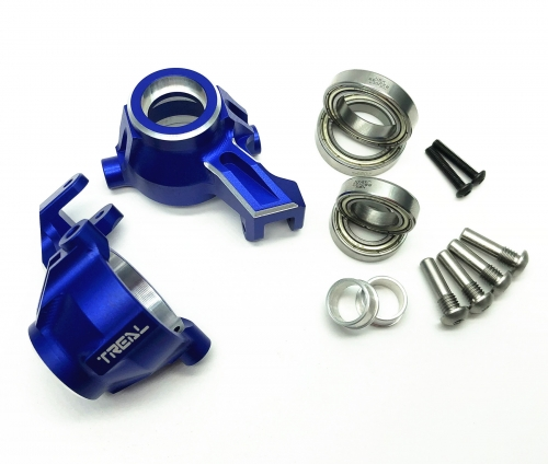 Treal Traxxas MAXX CNC Billet Aluminum 7075 Front Knuckles Arms Set 1:10 RC Upgrades