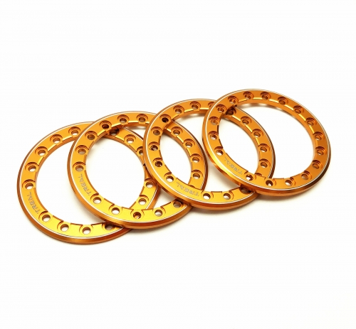 Treal 1.9 beadlock wheels Rings(4P-Set) Alloy Orange/Green